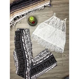 High waste boho pants/crop top (must buy both)